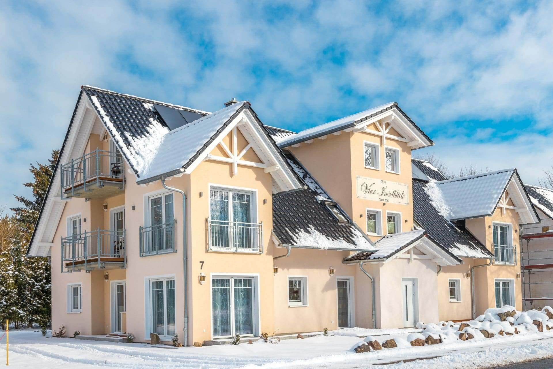 Ferienhaus Villa Vier Inselblick im Winter
